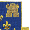 129th Infantry Regiment Patch | Upper Right Quadrant