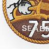 75th Naval Mobile Construction Battalion Patch   Lower Left Quadrant