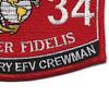 1834 Expeditionary EFV Crewman MOS Patch | Lower Right Quadrant