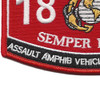 1831 Assault Amphib Vehicle Crew Member Patch | Lower Left Quadrant