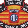 75th Infantry Regiment O Company Long Range Patrol - Airborne Ranger   Center Detail