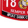 1812 M1A1 Tank Crewman MOS Patch | Lower Left Quadrant