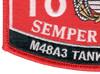 1811 MOS M48A3 Tank Crewman Patch | Lower Left Quadrant