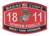 1811 M60A1 Tank Crewman MOS Patch