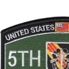5th Special Forces Group Military Occupational Specialty MOS Patch De Oppresso Liber | Upper Left Quadrant