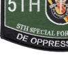 5th Special Forces Group Military Occupational Specialty MOS Patch De Oppresso Liber | Lower Left Quadrant