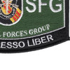 5th Special Forces Group Military Occupational Specialty MOS Patch De Oppresso Liber | Lower Right Quadrant