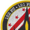121st Fighter Squadron Det. New Orleans Patch | Upper Left Quadrant