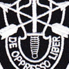 5th Special Forces Group Flash With Crest Small Version Patch | Center Detail