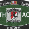 11th ACR MOS Black horse Veteran Patch | Center Detail