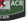 11th ACR MOS Black horse Veteran Patch | Lower Right Quadrant