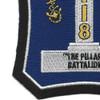 118th Naval Construction Battalion WWII Patch | Lower Left Quadrant