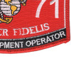 1171 Hygiene Equipment Operator MOS Patch | Lower Right Quadrant