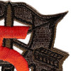 5th Special Forces Group Crest OD Green Red 5 Patch | Upper Right Quadrant