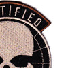 5th Special Forces Group Certified Ghost Patch Hook And Loop   Upper Right Quadrant