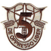 5th Special Forces Group Crest Desert Brown 5 Patch
