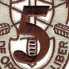 5th Special Forces Group Crest Desert Brown 5 Patch | Center Detail