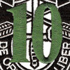 10th Special Forces Group Crest Green 10 Patch | Center Detail