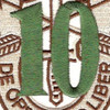 10th Special Forces Group Crest Desert Green 10 Patch | Center Detail