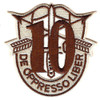 10th Special Forces Group Crest Desert Brown 10 Patch