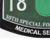 10th Special Forces Group 18D Military Occupational Specialty MOS Patch Medical Sergeant | Lower Left Quadrant