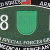 10th Special Forces Group 18D Military Occupational Specialty MOS Patch Medical Sergeant | Center Detail