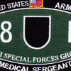 5th Special Forces Group 18D MOS Patch | Center Detail