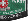 14th Field Artillery Regiment MOS Rating Patch | Lower Right Quadrant