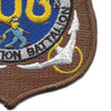 106th Mobile Construction Battalion Patch Kan Groo Cb | Lower Right Quadrant