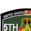 5th Military Police Battalion Military Occupational Specialty MOS Rating Patch Professional Always | Upper Left Quadrant