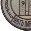 105th Infantry Regiment Patch | Lower Left Quadrant