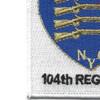 104th Infantry Regiment NYG Rifles Patch | Lower Left Quadrant
