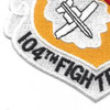 104th Fighter Wing Patch | Lower Left Quadrant