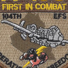 104th Expeditionary Flight Sqadron A-10C Operation Iraqi Freedom Patch | Center Detail