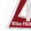 103rd Fighter Group Triangle Patch | Lower Left Quadrant