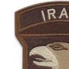 101st Airborne Division Patch Screaming Eagles Iraq Desert | Upper Left Quadrant