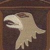 101st Airborne Division Patch Screaming Eagles Iraq Desert | Center Detail