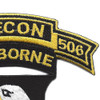 101st Airborne Division 506th Airborne Infantry Regiment 3rd Battalion Recon Patch | Upper Right Quadrant