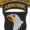 101st Airborne Division 506th Airborne Infantry Regiment 3nd Battalion Shock Force Patch | Center Detail