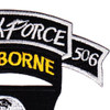 101st Airborne Division 506th Aiborne Infantry Regiment 3rd Battalion Shock Force Patch | Upper Right Quadrant