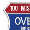 100 Missions Over North Vietnam Patch | Upper Left Quadrant