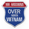 100 Missions Over North Vietnam Patch