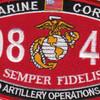 0848 Field Artillery Operations Man MOS Patch | Center Detail
