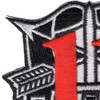 11th Special Forces Group Crest Patch Black White Red | Upper Left Quadrant