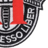 11th Special Forces Group Crest Patch Black White Red | Lower Right Quadrant