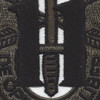 11th Special Forces Group Crest OD Green Patch   Center Detail