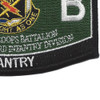 11th Bravo Special Troop Battalion Military Occupational Specialty MOS Patch Infantry | Lower Right Quadrant