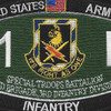 11th Bravo Special Troop Battalion Military Occupational Specialty MOS Patch Infantry | Center Detail