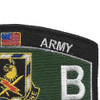 11th Bravo Special Troop Battalion Military Occupational Specialty MOS Patch Infantry | Upper Right Quadrant