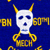 5th Battalion Of The 60th Infantry Regiment Patch Bandido Mech Charlie   Center Detail